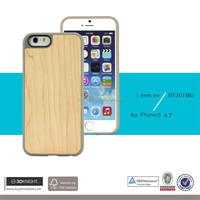 2016 Hot Sell Products Hard Back Shockproof Ivory Maple Wood Soft TPU Phone Case for iPhone 6s