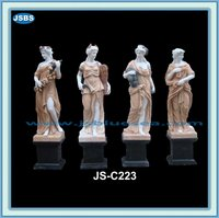garden decorative four seasons marble statues