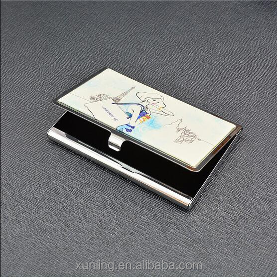 Hot Selling Metal Business Card Holder in Stock with Free Sample and Customized Logo
