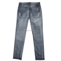 GZY man jeans with spandex slim fit stocklot jeans no name denim jeans