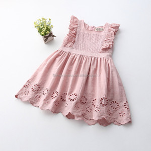 Lilota Style Girl Dress Embroidered Sleeveless Princess Dress Girls Kids Clothes Infant Casual Children Dress