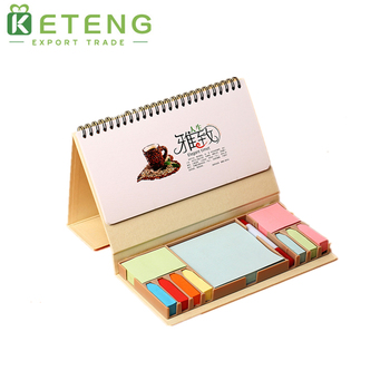 Sublimation Desk Top Sticky Calendar With Note Pad