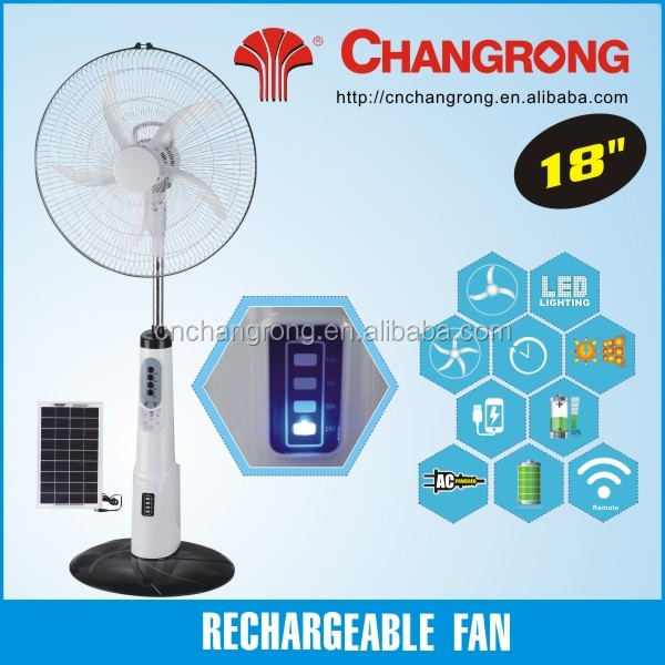 cheap 18inch rechargeable fan with LED