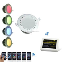 4.7' 4x 2.4G Mi-light 12W RGBW Dimmer LED Downlight+1xWireless Wifi Control