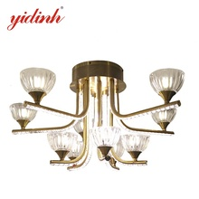 Creative Home light fixture led ceiling LED glass cover pendantaluminium stripfor living room lighting