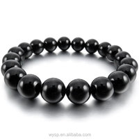 Men,Women's 10mm Bracelet Link Wrist Energy Stonec Onyx Gemstone Bracelet Men