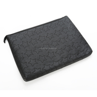 PU Leather travel Document Organizer Cosmetic Pencil Gadget Phone Pouch Bag for ipad with zipper