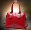 On Sale! 2016 latest fashion light red lady tote bags elegant wholesale good quality fancy leather travel bags from China