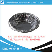 Recycable household aluminum foil container for baking egg tart