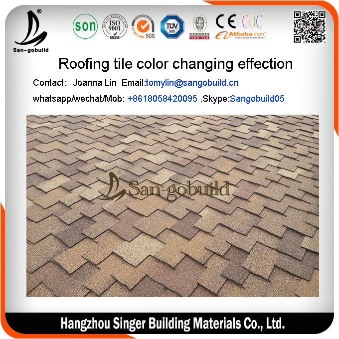 HOT Chile sale Asphalt Shingle Tiles/Colored Asphalt Shingle Roof/Qualified Asphalt Shingle