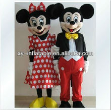 2012 New Design Advertising Mickey and Minnie Mascot Costume