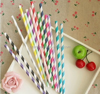 Eco-Friendly striped decoration paper straws for drinking
