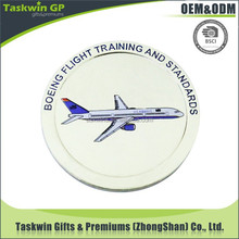 custom creative metal round pin badges for boeing flight training