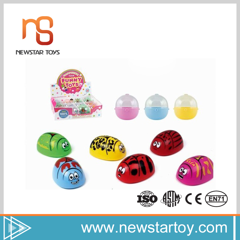 Hot selling interesting plastic beetles wind up japanese egg toy with low price