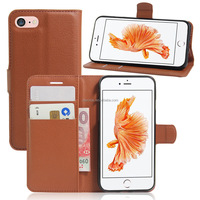 New model Wallet Flip PU Leather Phone Case Cover For iPhone 7