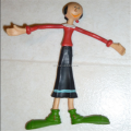Make custom vintage 1978 7 inch olive oil bendable poseable figure doll popeye cartoon