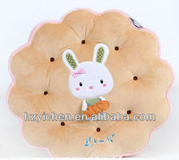 Round chair pad with two ties/ Cookie design Box cushion/ tatami
