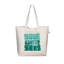 Promotional customized recyclable natural tote cotton canvas bag