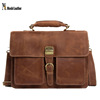 Genuine Cow Leather Men's Briefcase for 15inch Laptop Bag 1031