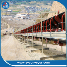 heavy duty belt conveyor system for coal mines