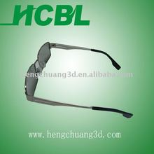fashion polarizer 3d glasses 3d metal cinema computer games flashing glasses