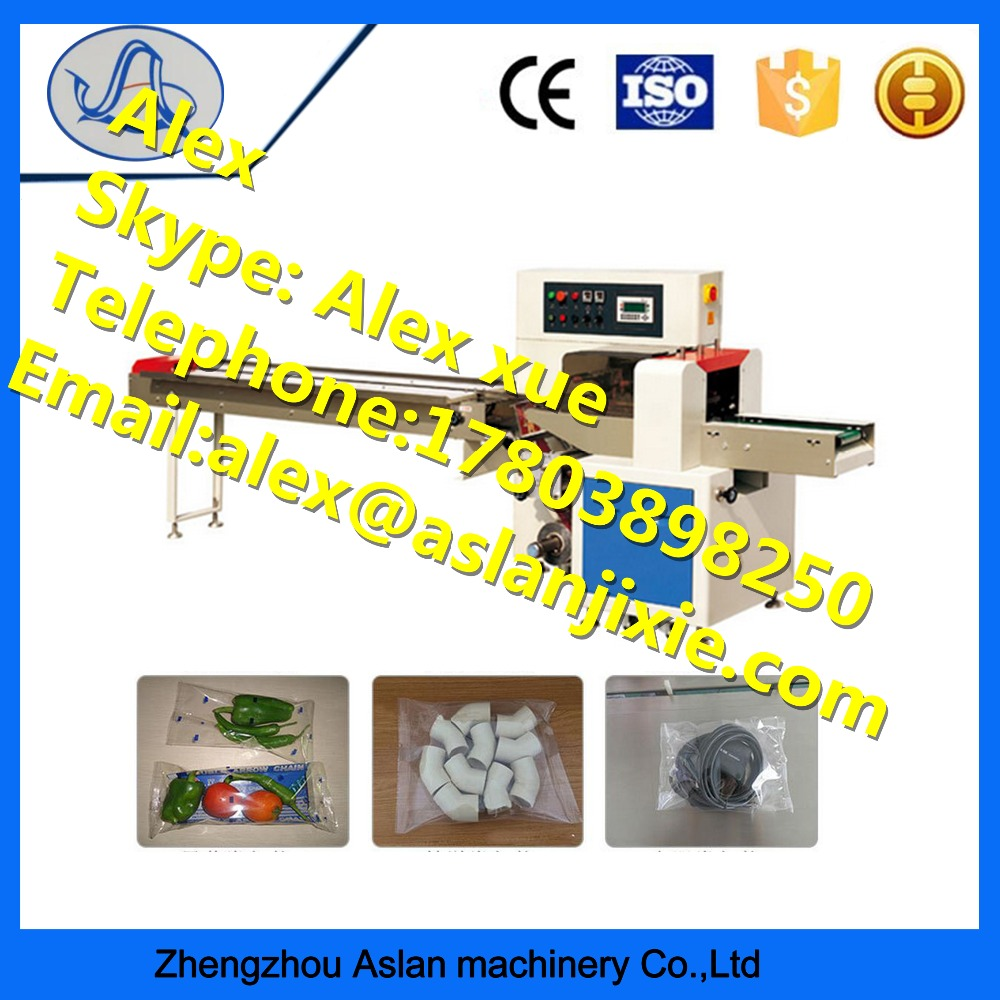 High speed pillow wrapper / Automatic horizontal packing machine / Widely used pillow flow food packaging machine