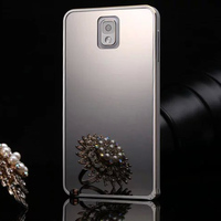 Luxury Aluminum bumper mirror back case for samsung galaxy note3