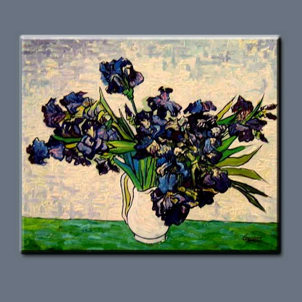 BC13-9267 Handmade Claude Van Gogh oil painting reproduction oil painting beautiful vase of flowers