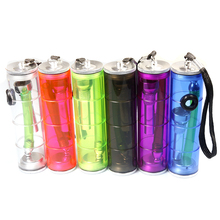 YIWU acrylic cylindrical colored transparent plastic water smoking pipes METTLE-8987