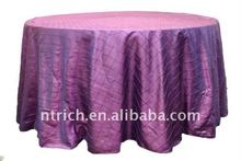 Greating!!! light purple pintuck table cloth,taffeta table cloth,crushed/crinkle table cloth