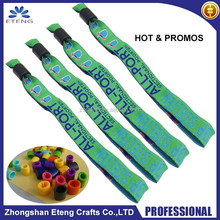 Fashion custom branded woven wristband on wholesale