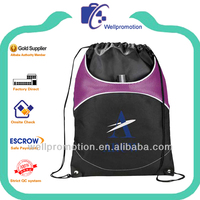 Wellpromotion polyester Mesh sport pack / Mesh drawstring backpack