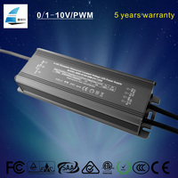 120W led ac to dc converter 0-10V dimming led light constant voltage led power driver