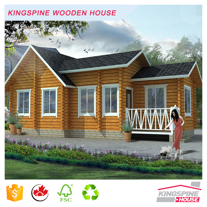 Beautiful Wooden Small Restaurant Prefabricated Log House 60 square meters KPL-095