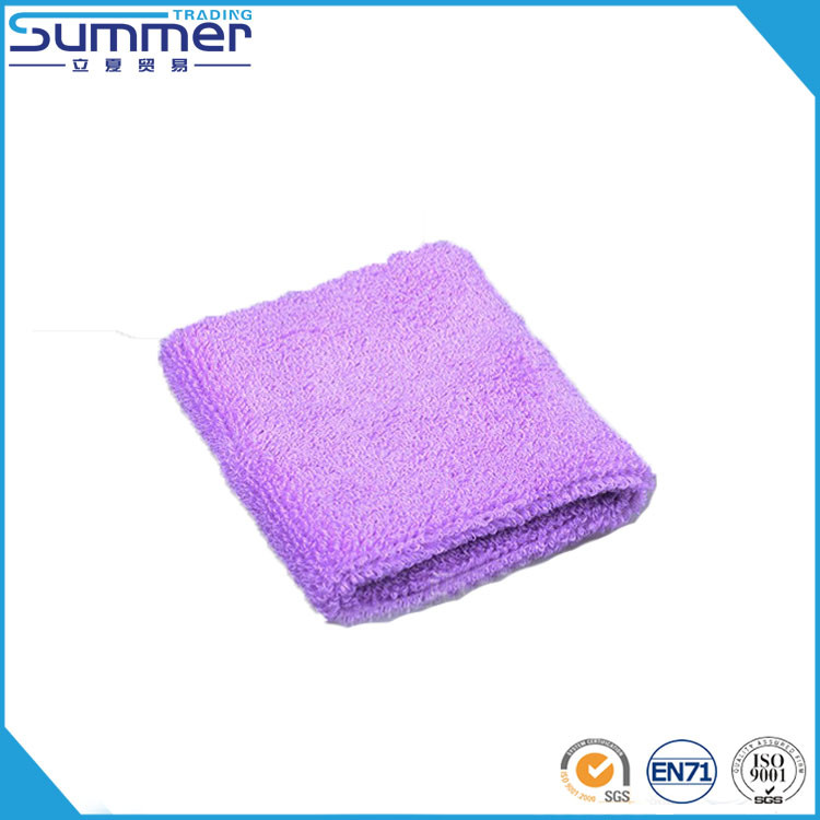 Promotional Sweat Absorb Soft Terry Toweling Sport Knitted Custom Cotton Cheap Sweat Towel Wristbands