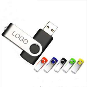 Customized logo mini pendrive 32mb~128gb u disk swivel usb flash drive 2.0 3.0 memory stick