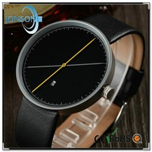 Simple style two hand custom your logo watch 3atm water resistant stainless steel watch