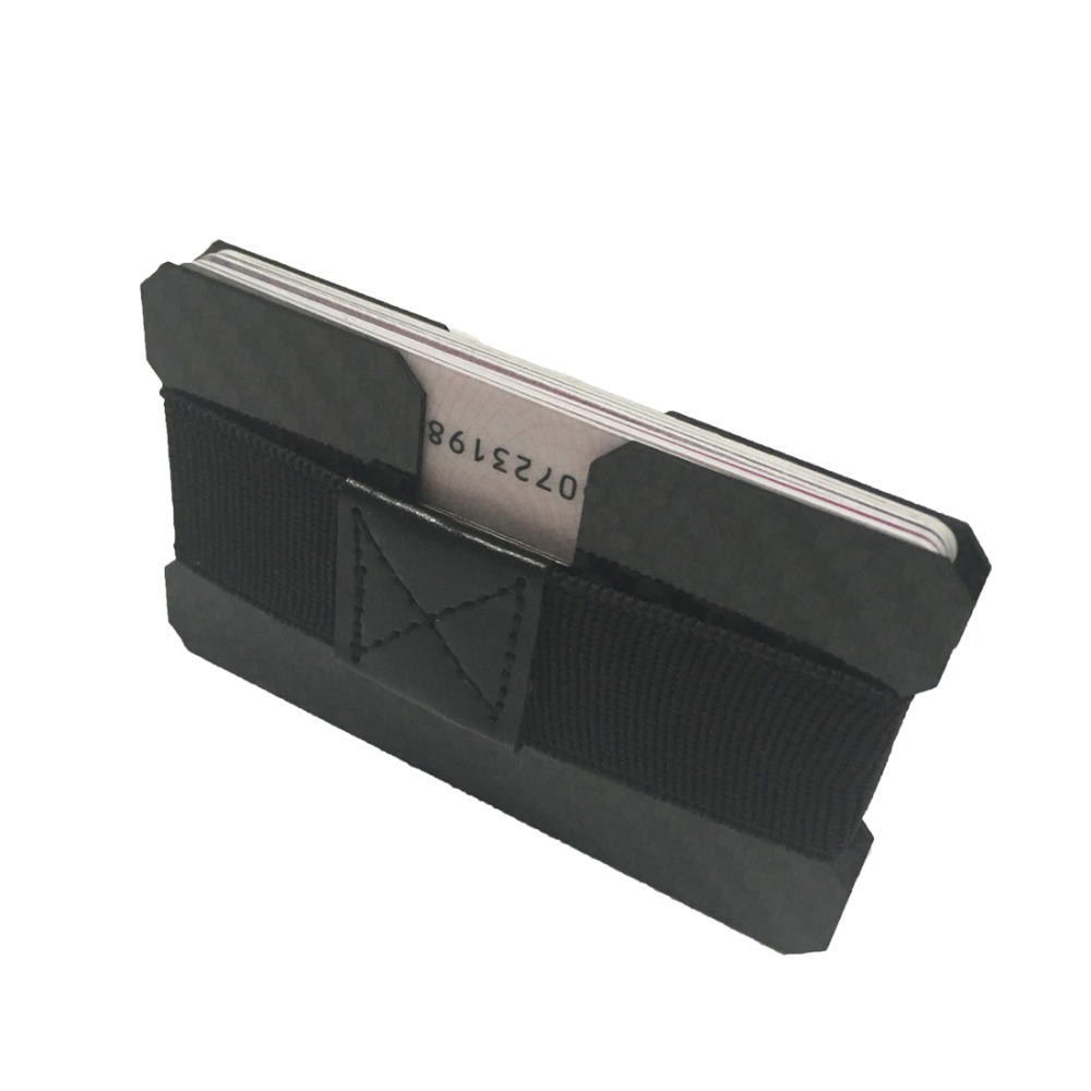TUOPUKE minimalist multi-function men's wallet carbon fiber wallet