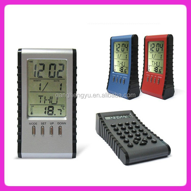 Electronic Calendar calculator and clock,accountant electronic calculator