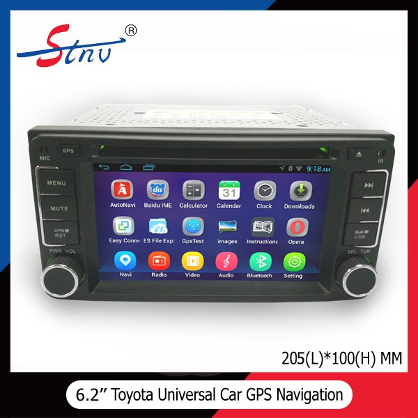 6.2 Inch Universal Android 4.4 Double Din Car DVD Player For Toyota