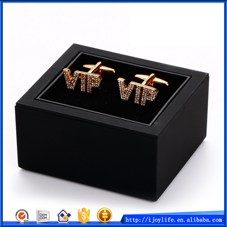 Popular promotional cufflinks and tie clip set box