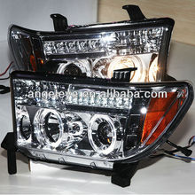 For TOYOTA Tundra LED Angel eyes Headlight 2007-2013 year Chrome Housing