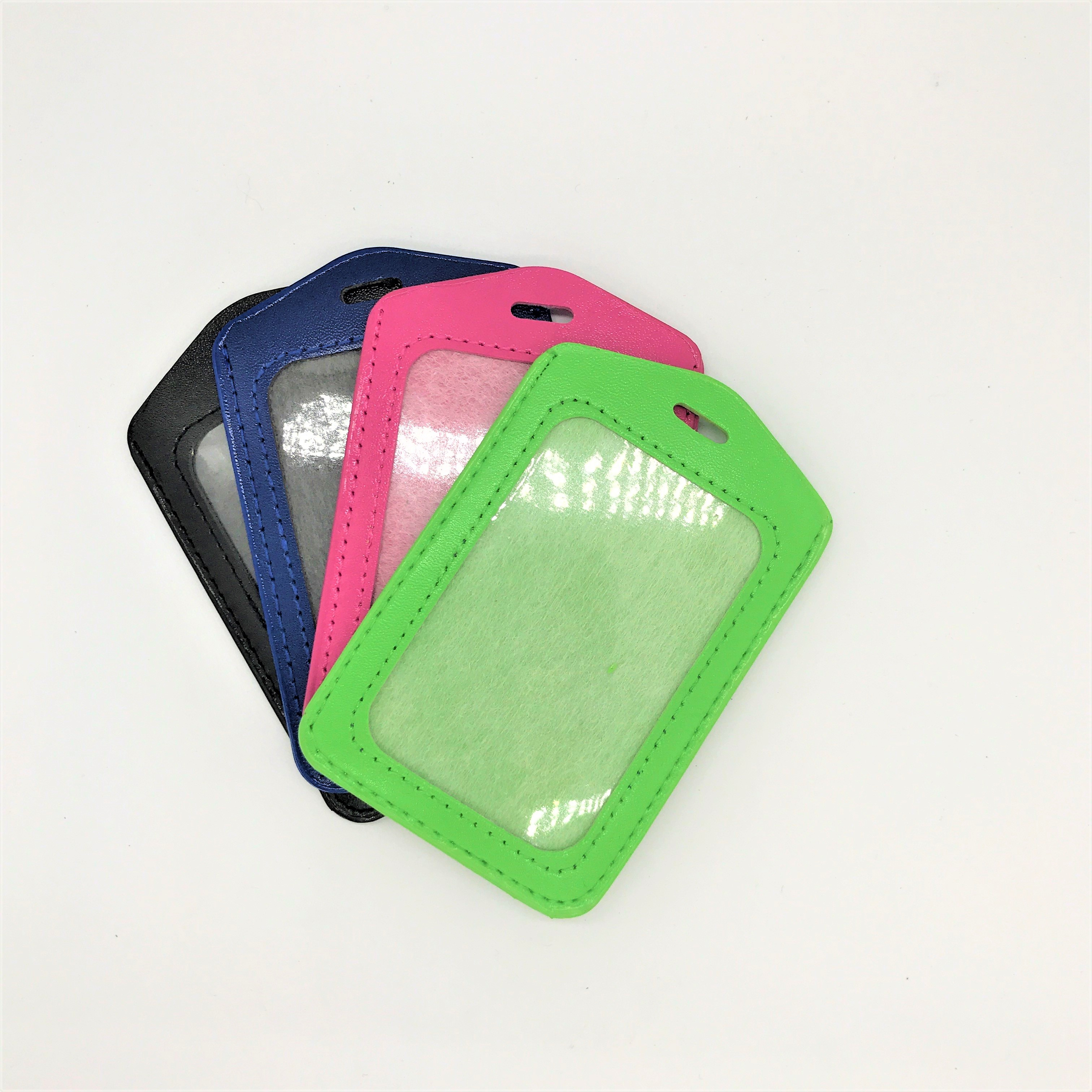 PU leather ID card holder for staff