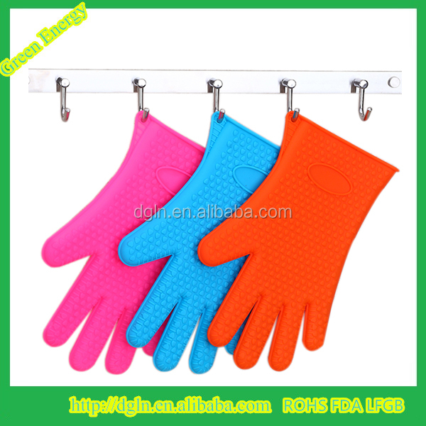 Food grade silicone five finger protector oven mitts Heat Resistant silicone bbq gloves