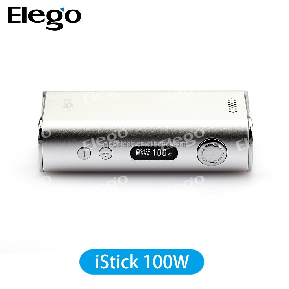 Wholesale New Box iStick 100W Kit Black and Silver Eleaf iStick 100W Express Kit Subtank Mini Bell Cap
