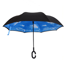 Beautiful unique Rainy Sunny double layers flower reverse umbrella chinese wholesaler print logo for car