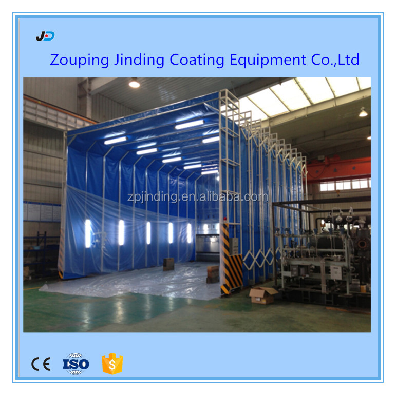 china heavy industry spray booth / retractable water based paint spray booth