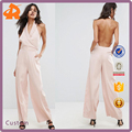custom make your own light pink backless sex jumpsuit,hot sale womens rompers jumpsuits