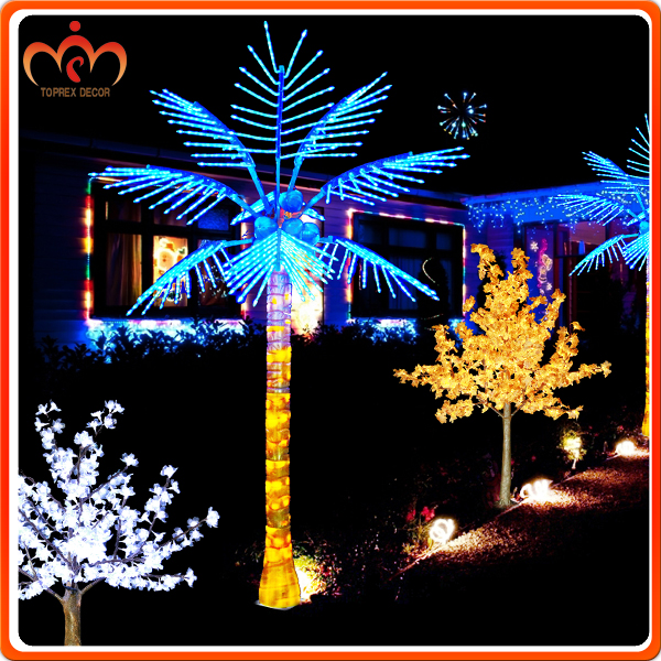 H3m outdoor natural artificial coconut palm tree holiday decoration