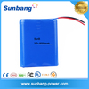 Rechargeable 3.7v 6000mah 18650 li-ion battery pack for Solar lights